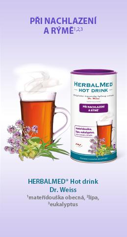 HERBALMED® Hot drink Dr. Weiss - PŘI NACHLAZENÍ A RÝMĚ